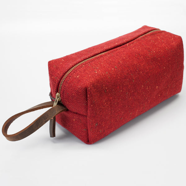 General Knot & Co. Red Donegal Travel Dopp Kit