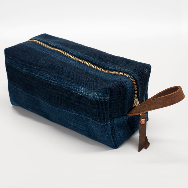 General Knot & Co. Vintage West African Indigo Travel Dopp Kit