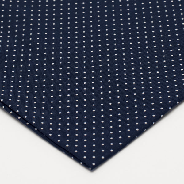 General Knot & Co. 1950's Navy White Micro Dot Pocket Square