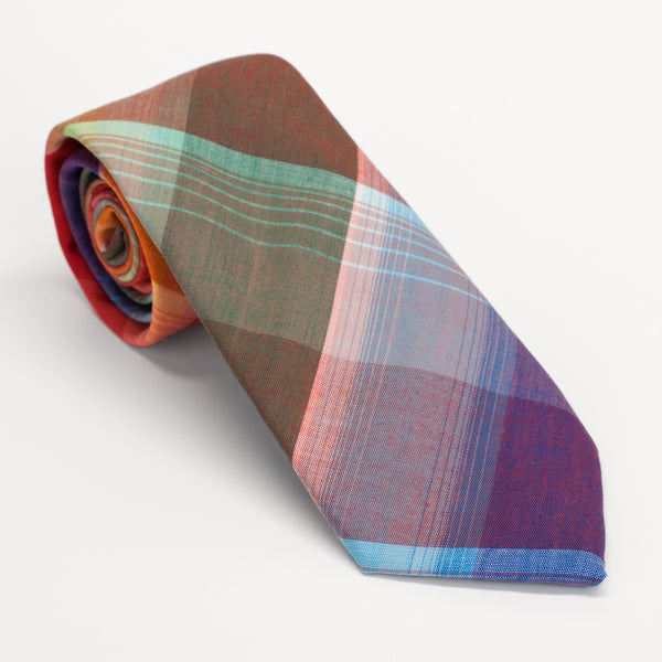 General Knot & Co. 1950's Ombre Block Check Midnight Indigo Tie