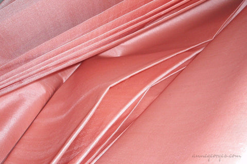 Organic Handwoven Peace Silk Fabric - FQ, Yardage & Bolts - ICE SODA ( Pale Salmon )
