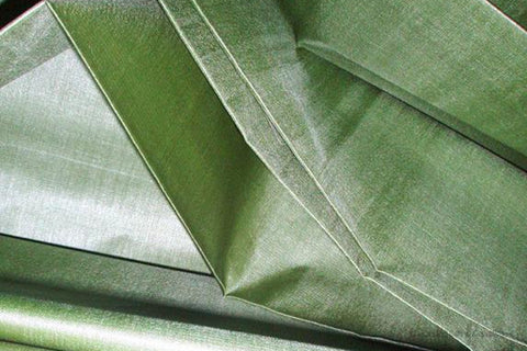 Organic Handwoven Peace Silk Fabric - FQ, Yardage & Bolts - ICE SODA ( Sage Green )