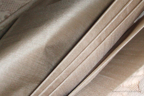 Organic Handwoven Peace Silk Fabric - FQ, Yardage & Bolts - ICE SODA ( Silver Grey )