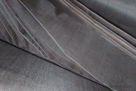 Organic Handwoven Peace Silk Fabric - FQ, Yardage & Bolts - ICE SODA ( Steel Grey )