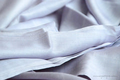 Organic Handwoven Peace Silk Fabric - FQ, Yardage & Bolts - MIDSUMMER DAYS ( Bluebell's Shadow )
