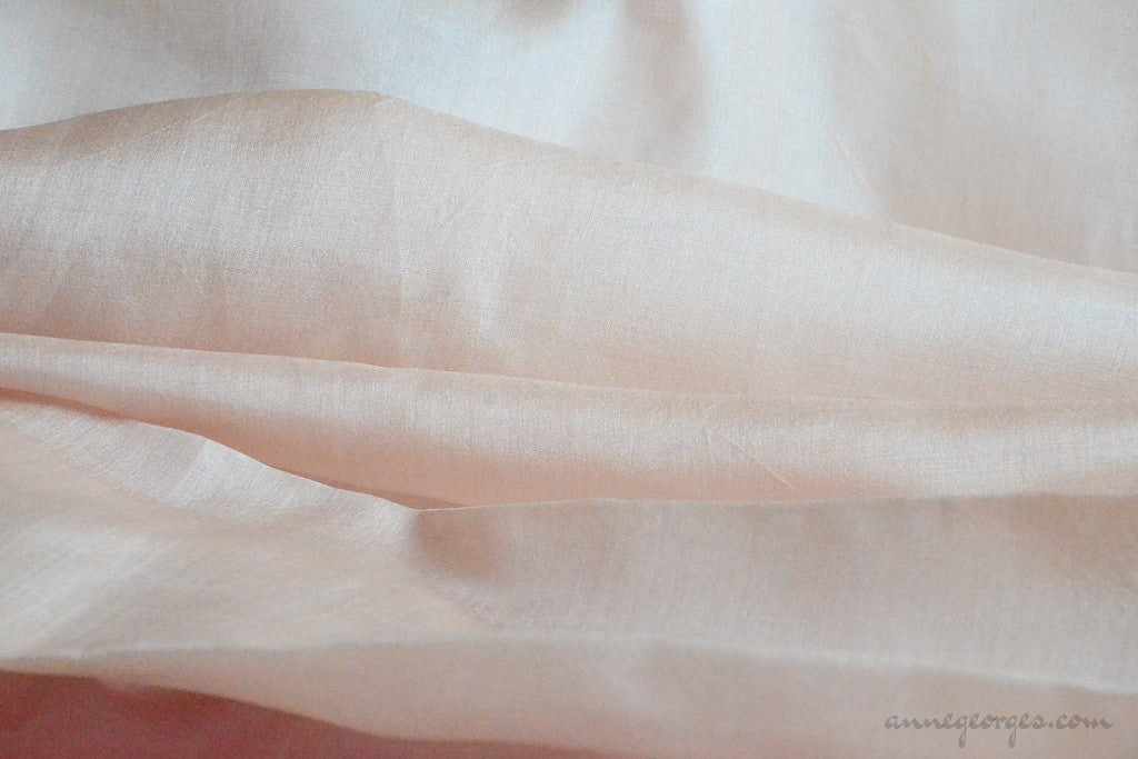 Organic Handwoven Peace Silk Fabric - FQ, Yardage & Bolts - MIDSUMMER DAYS ( Fig Gelato )