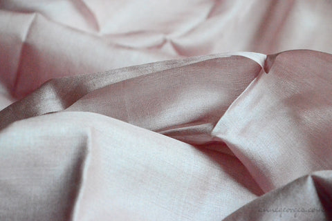 Organic Handwoven Peace Silk Fabric - FQ, Yardage & Bolts - MIDSUMMER DAYS ( Orchid Nude )