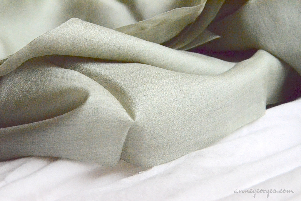 Organic Handwoven Peace Silk Fabric - FQ, Yardage & Bolts - MIDSUMMER DAYS ( Thyme Patch )