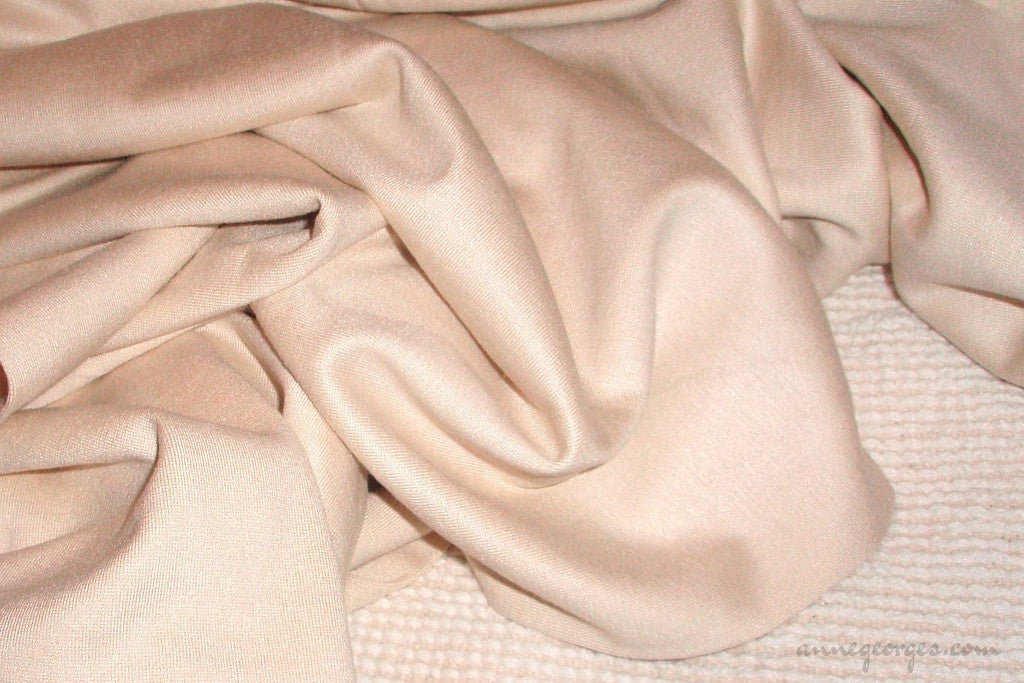 Ahimsa Silk Interlock Jersey 250g (Natural Fabric Yardage & Bolts, Unbleached)