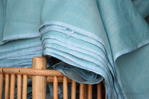 Organic Cotton Fabric. Super Soft & Light - ANGEL'S BREATH ( Bay Blue)