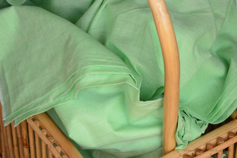 Organic Cotton Fabric. Super Soft & Light - ANGEL'S BREATH ( Bay Green)