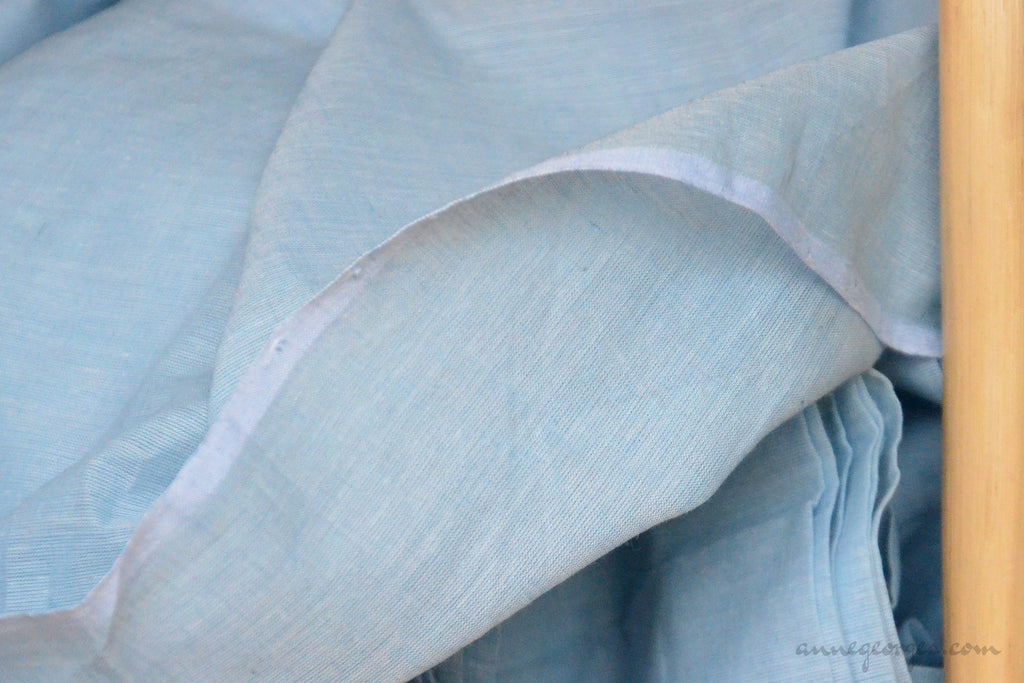 Organic Cotton Fabric. Super Soft & Light - ANGEL'S BREATH ( Duck Egg Blue )