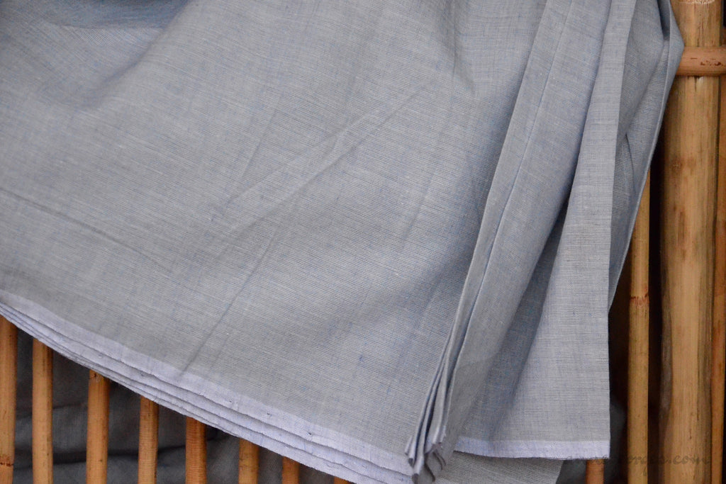 Organic Cotton Fabric. Super Soft & Light - ANGEL'S BREATH ( Fog Blue )