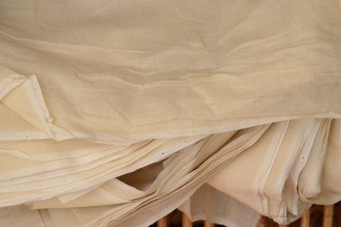 Organic Cotton Fabric. Super Soft & Light - ANGEL'S BREATH ( Milk Cream )