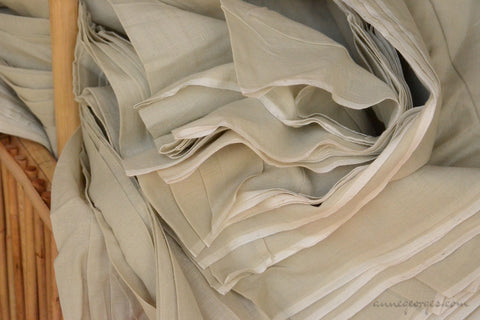 Organic Cotton Fabric. Super Soft & Light - ANGEL'S BREATH ( Pepper Tea )