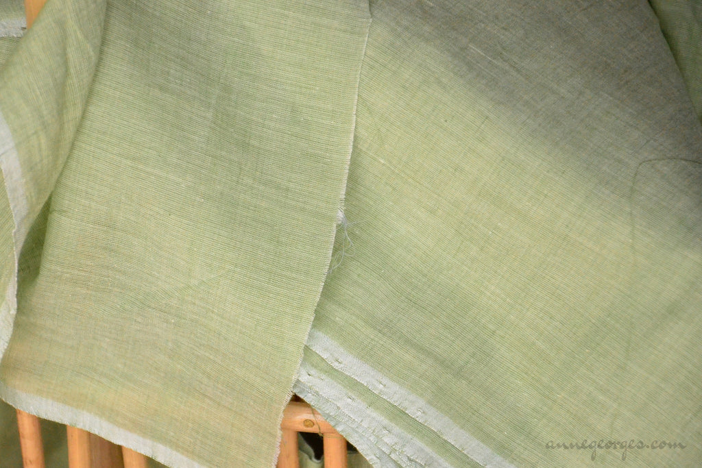 Organic Cotton Fabric. Super Soft & Light - ANGEL'S BREATH ( Sage Green )