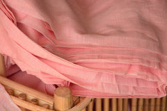 Organic Cotton Fabric. Super Soft & Light - ANGEL'S BREATH ( Salmon Pink )