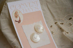 Handmade Mother of Pearl Buttons - CONVENT DAYS ( Card B1 )