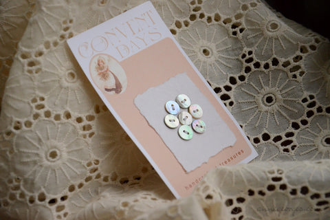 Akoya Buttons Handmade - CONVENT DAYS ( Card B4 )