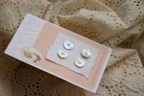 Akoya Buttons Handmade - CONVENT DAYS ( Card B5 )
