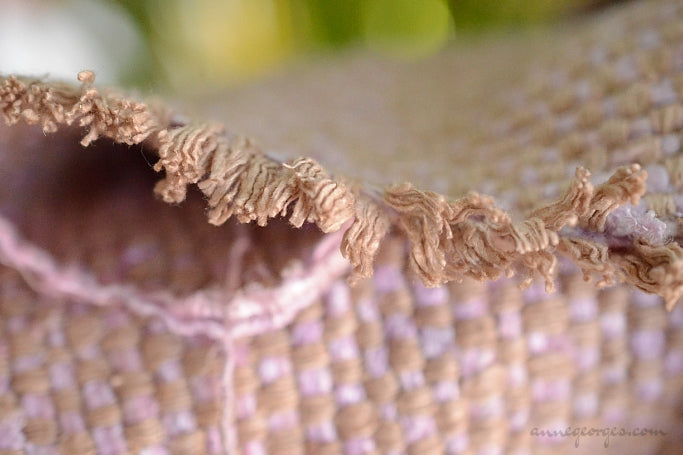 Silk Rayon Boucle Tweed Fabric by the Yard. Designer Collection - Candie - Caramel and Pink - 50'' / 127cm W