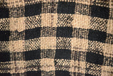 Silk Boucle Tweed Fabric by the Yard. Designer Collection - Jutensoot - Beige and Black- 56'' / 142cm W