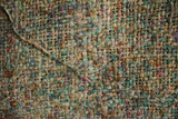 Silk Boucle Tweed Fabric by the Yard. Designer Collection - Meadows - Green and Multi Color - 54'' / 136cm W