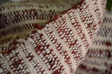 Silk Cotton Boucle Tweed Fabric by the Yard. Designer Collection - Minerva - Burgundy and Cream - 50'' / 127cm W