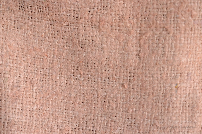 Silk Boucle Tweed Fabric by the Yard. Designer Collection - Princessa - Soft Peach- 49'' / 124cm W