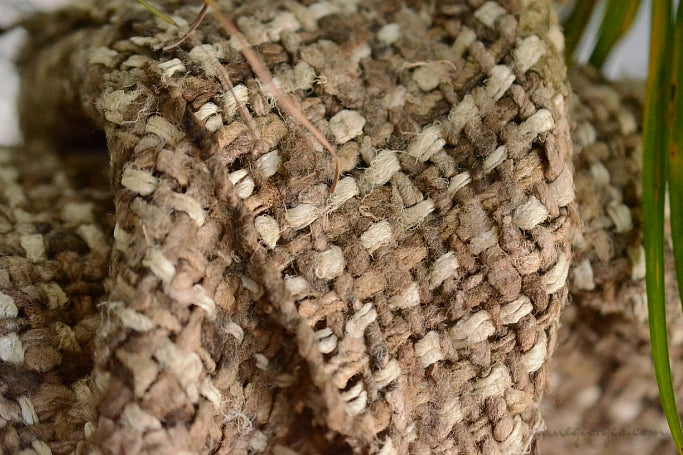 Silk Boucle Tweed Fabric by the Yard. Designer Collection - Smores - Offwhite and Hay - 58'' / 147cm W
