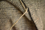 Silk Cotton Boucle Tweed Fabric by the Yard. Designer Collection - Thor - Beige and Black - 56'' / 142cm W