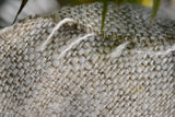 Silk Boucle Tweed Fabric by the Yard. Designer Collection - Winter - Hay and Offwhite- 57'' / 144cm W