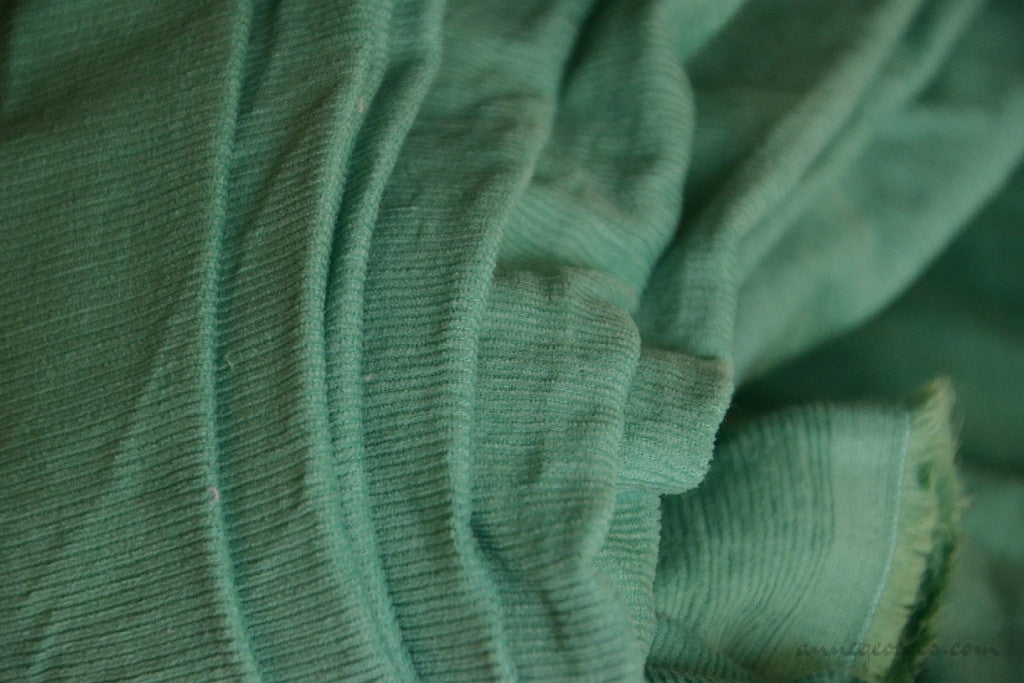 Organic Cotton Corduroy Fabric - VINTAGE MEMORIES ( Ancient Verdigris  )