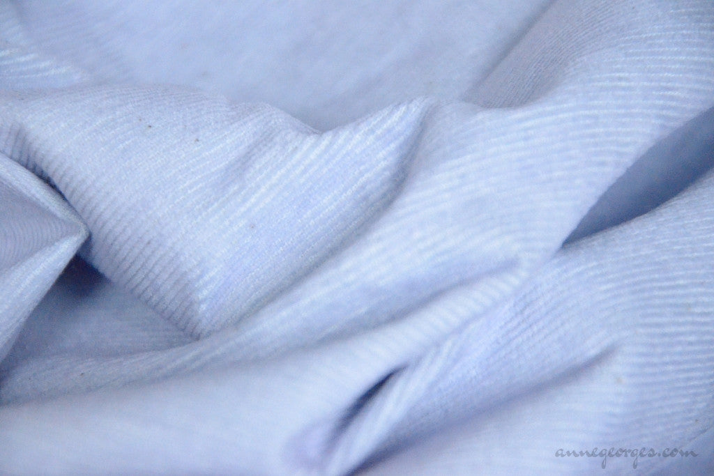 Organic Cotton Corduroy Fabric - VINTAGE MEMORIES ( Powder Blue  )