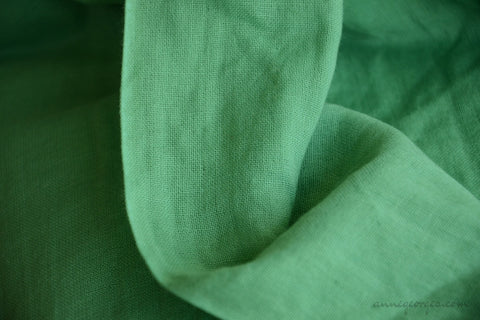 Organic Cotton Double Gauze Fabric - VINTAGE MEMORIES ( Ancient Verdigris  )