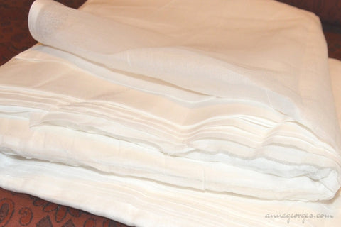 Organic Cotton Handwoven Fabric ( Cotton Organdy, Prepared for Dye Dyeable )