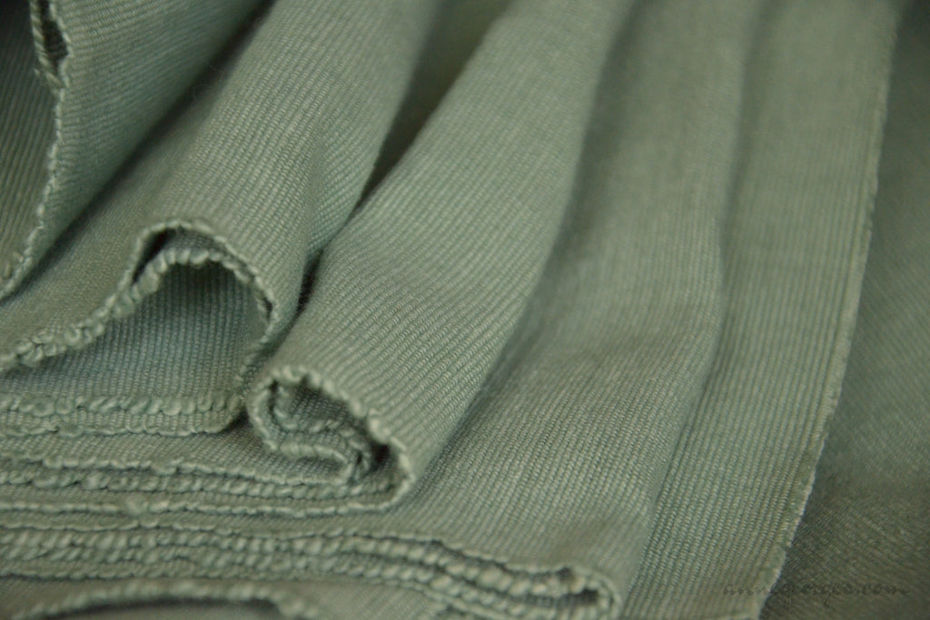 Cotton Ribbed Decor Fabric MALABAR TIDES ( Sage Green )