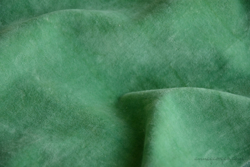 Organic Cotton Velvet Fabric - VINTAGE MEMORIES ( Ancient Verdigris )