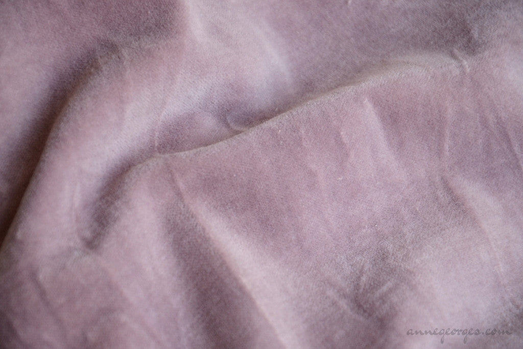 Organic Cotton Velvet Fabric - VINTAGE MEMORIES ( Sweet Lavender )