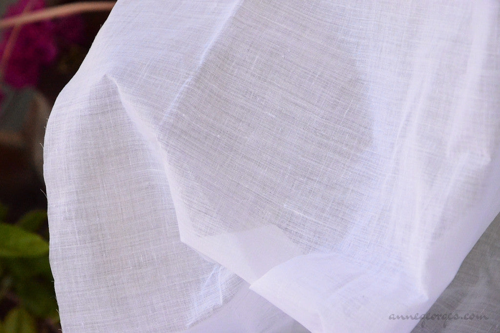 Dhaka Muslin Organic Cotton Handwoven ( Prepared for Dye Dyeable )