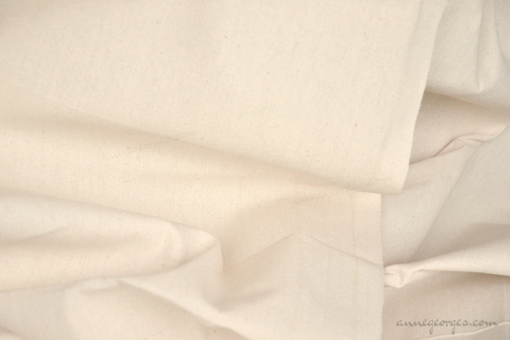 Organic Cotton Handwoven Fabric - LOOMSTATE ( Duck, Unbleached Dyeable )