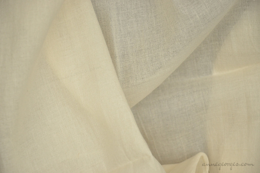Organic Cotton Handwoven Fabric - LOOMSTATE ( Cotton Georgette, Unbleached Dyeable )