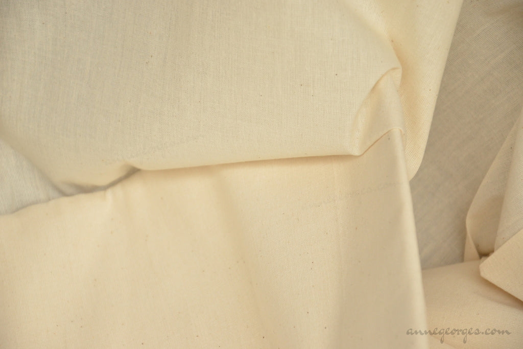 Organic Cotton Handwoven Extra Wide Fabric - LOOMSTATE ( Sheeting 30s, Unbleached Dyeable )