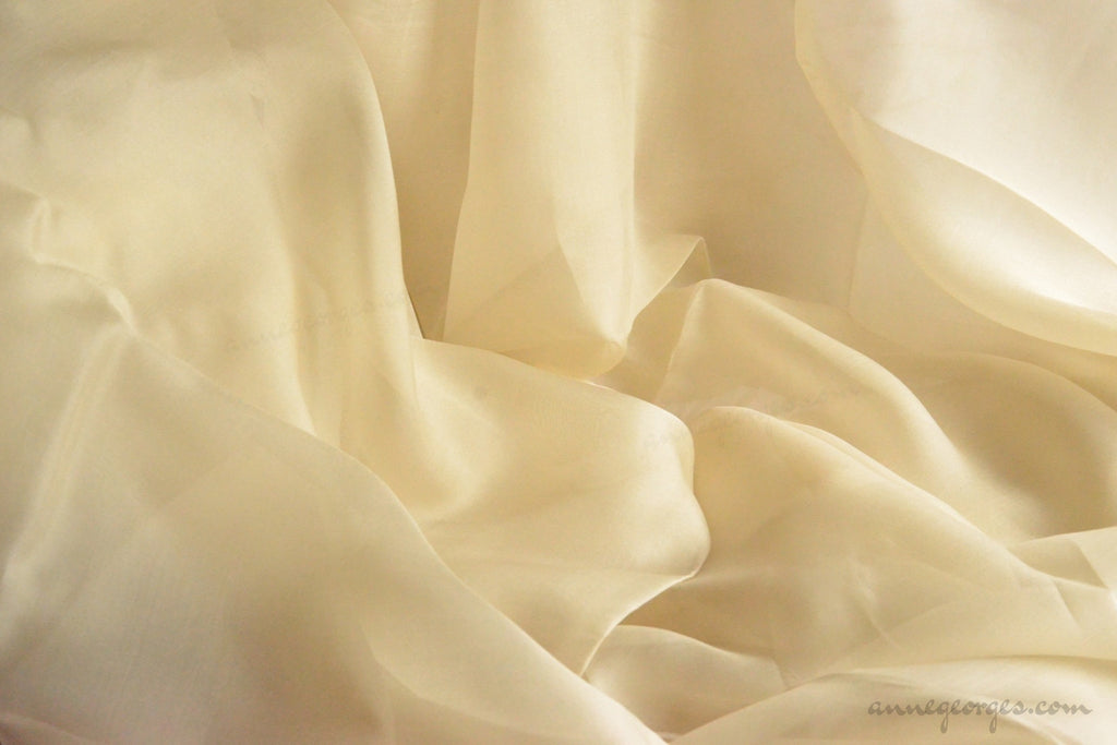 Pure silk organza fabric - FAIRY WINGS ( Butter Sprite )