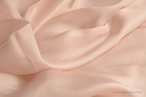 Pure silk organza fabric - FAIRY WINGS ( Peach Glimmer )