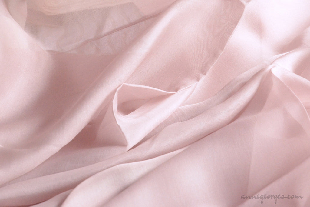 Pure silk organza fabric - FAIRY WINGS ( Rose Dust )