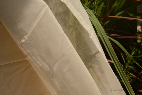 Organic Silk+Cotton Fabric ( Gossamer Silk Cotton, Unbleached Dyeable )