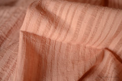 Organic Cotton Handwoven Fabric - HEALING YARDS HERBARIUM ( Tidal, Dusty Rose ) Rose & Red Sandal Dye
