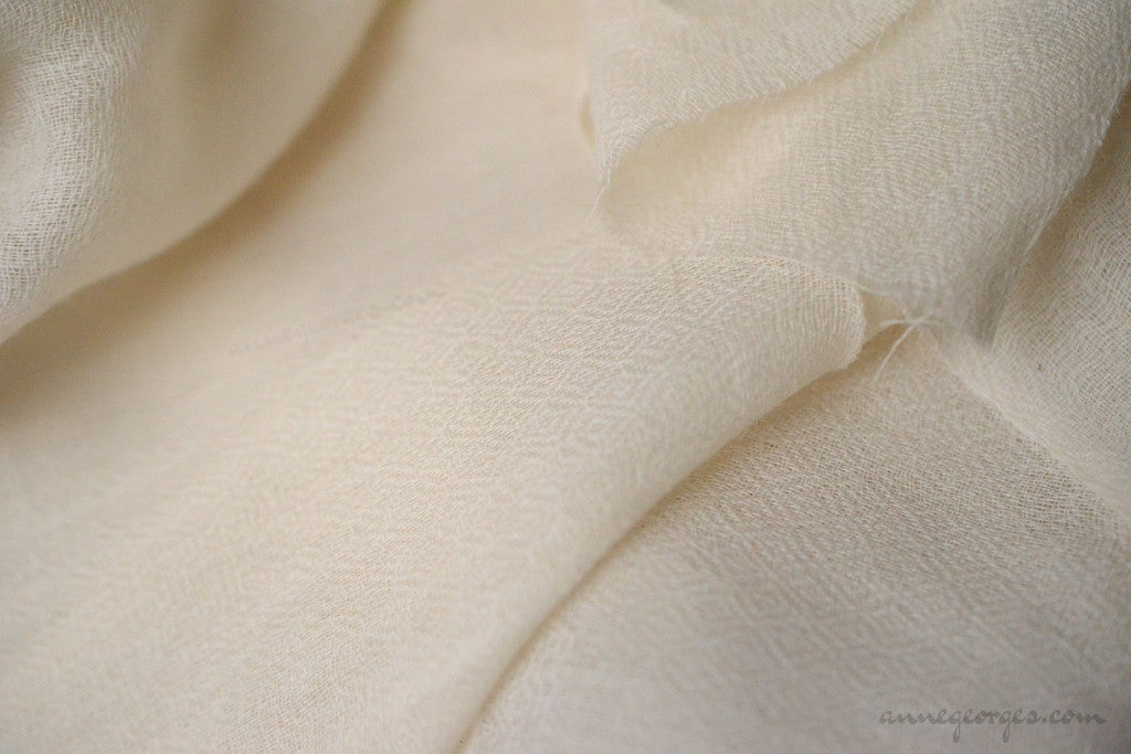 Mohair Woven Bird's Eye Dyeable (Natural Fabric Yardage & Bolts, Unbleached)