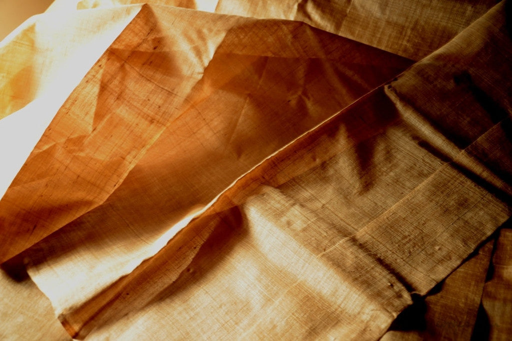 Muga Silk (Natural Fabric Yardage & Bolts, Unbleached)